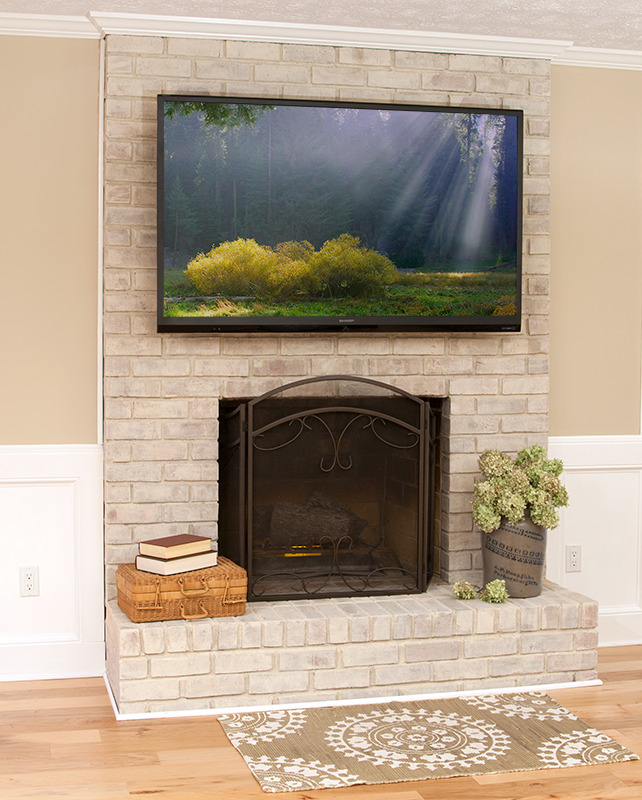 Brick fireplace-makeover-update-budget-cheap