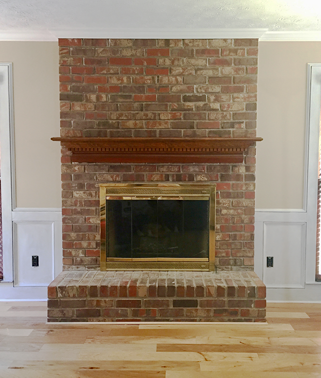 Brick-fireplace-whitewash-how to
