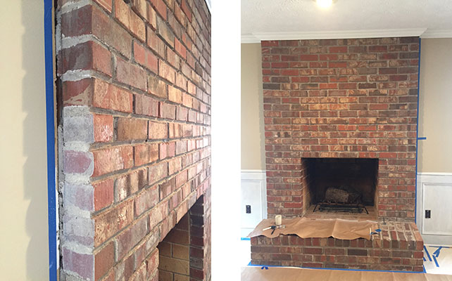 Brick-fireplace-prepare-to-paint-whitewash