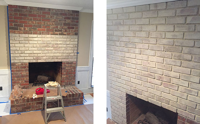 Brick-fireplace-prep-for-whitewash-painting