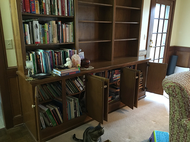 Built-in-bookcase-how-to-refinish