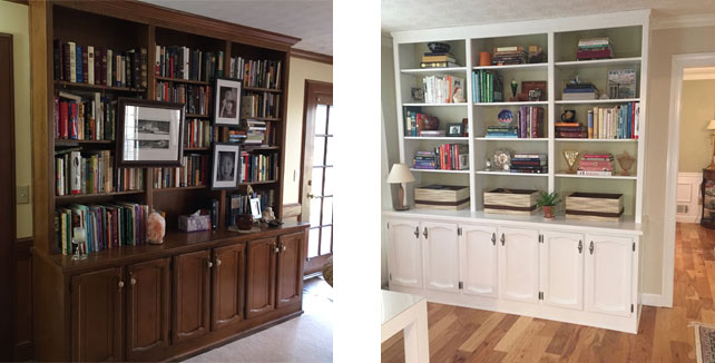Built In Bookcase 1980 How To Refinish And