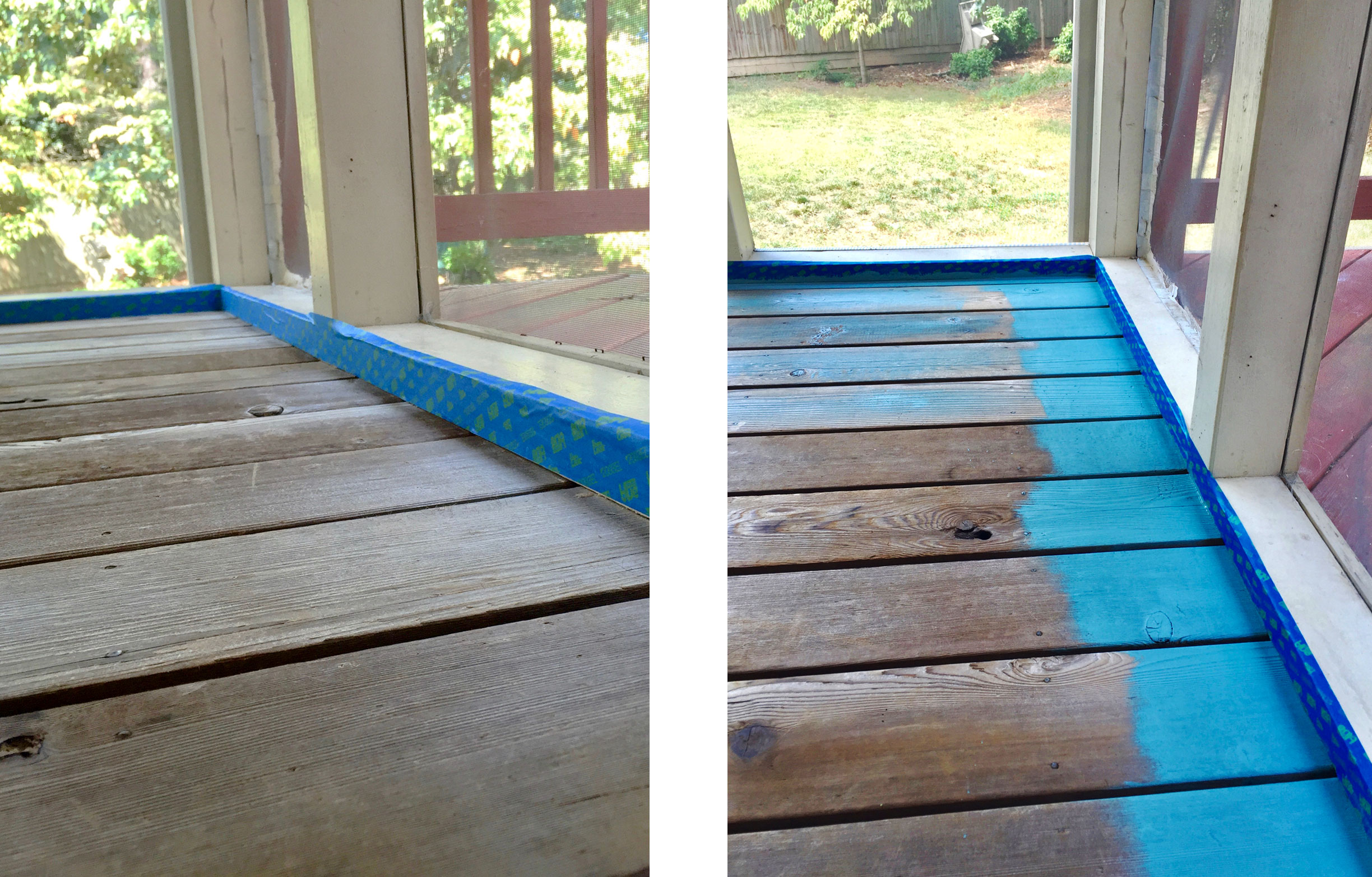 How To Prepare And Paint A Screened Porch Floor The Emerging Home
