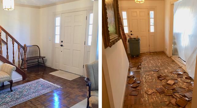 removing-parquet-flooring-demolition