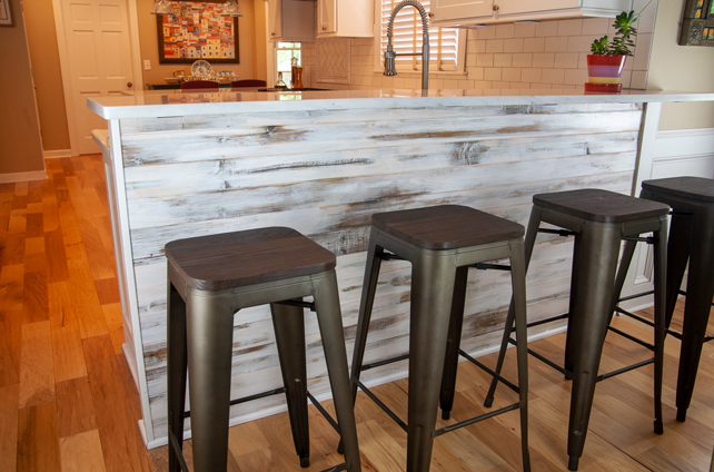 distressed_wood_family_room_bar_and_stools