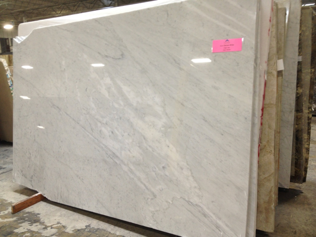large marble slab with muted light and dark gray veining